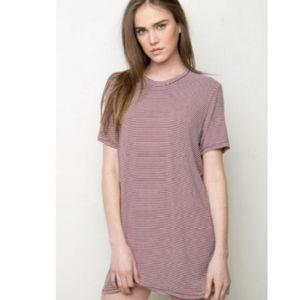 || BRANDY MELVILLE || OS Striped Shirt Dress